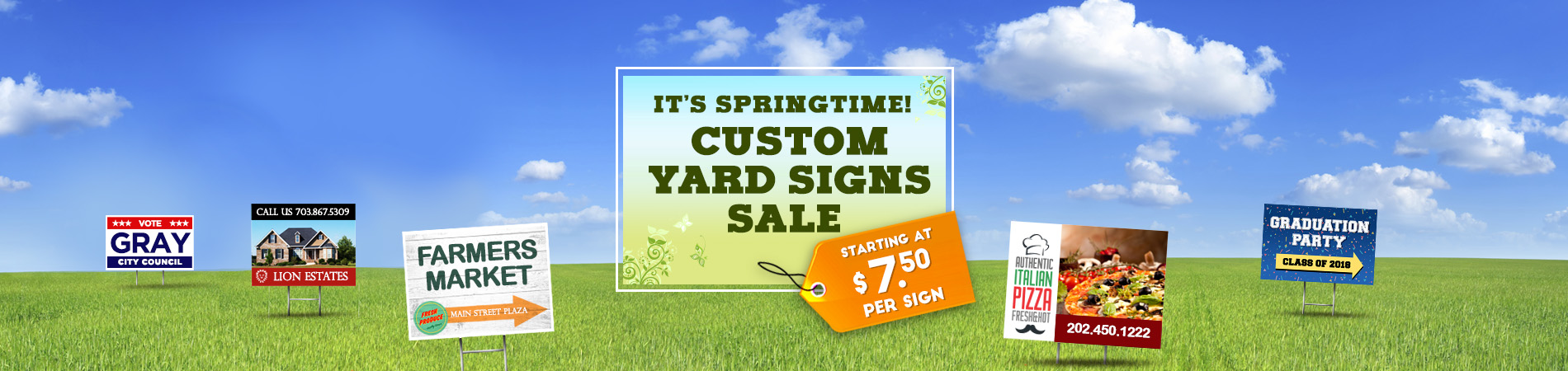Yard Sign Sale