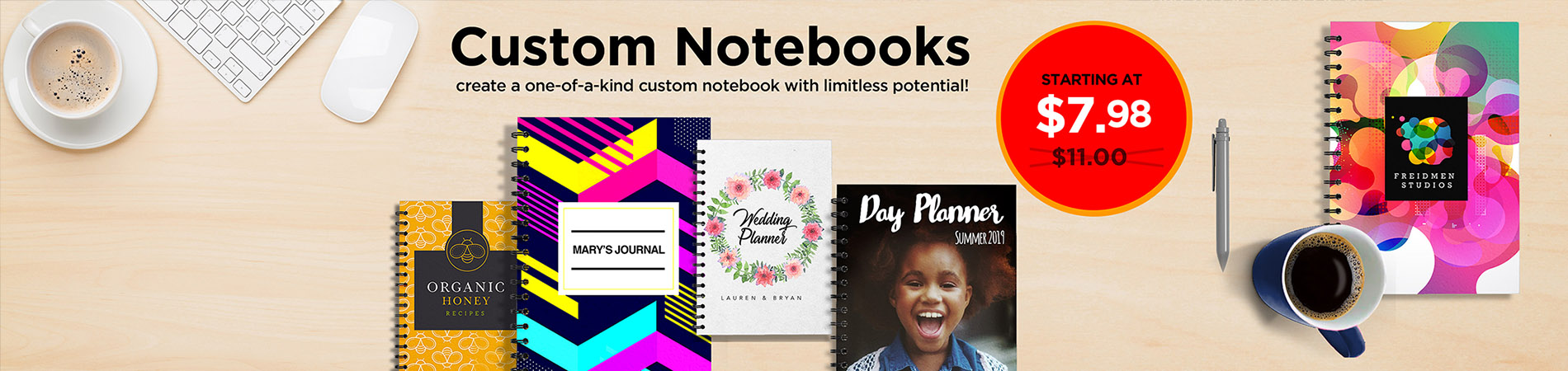 Custom Notebooks- $7.98