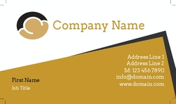 Abstract Business Overlay - White Text