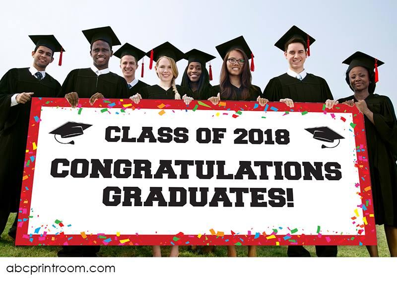 Graduation banner printing